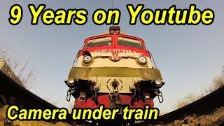 Download 9 ani de Youtube-Kamera unter Zug-Camera under train-Train weight shakes the camera Video