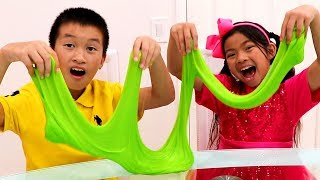 Download Emma & Andrew Pretend Play Making Colorful Satisfying Slime Video