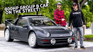 Download Ken Block's Ford RS200 Group B Rally Car on the Street, Meeting Up With Travis Pastrana! Video