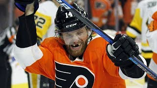 Download Flyers' Couturier gets five points, three goals on torn MCL Video