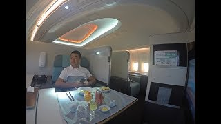 Download Korean Air B747-8 First Class Review Hong Kong to Incheon Video