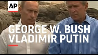 Download News conference with Bush and Putin Video