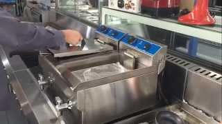 Download Commercial Double Electric Bench Top Deep Fryer Video