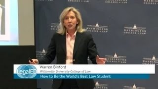 Download How to Be the World's Best Law Student | Warren Binford | Willamette Univ. College of Law | ILT 2015 Video