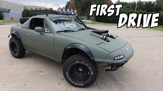 Download First Drive in the Supercharged Lifted Miata! Video
