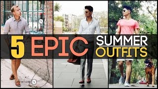 Download 5 EPIC SUMMER OUTFITS Every Man Needs | 5 Classic Men's Summer Look-Book | Mayank Bhattacharya Video