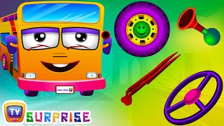 Download Surprise Eggs Nursery Rhymes | Wheels On The Bus | Learn Colours & Parts of the Bus | ChuChu TV Video