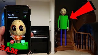 Download (CREEPY) CALLING BALDI'S BASICS ON FACETIME AT 3AM | BALDI CAME TO MY HOUSE AT 3AM! Video