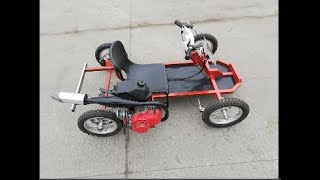 Download transformation bicycle to bike go kart Video