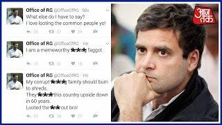 Download Rahul Gandhi's Twitter Handle Hacked; Abusive Tweets Flow Video