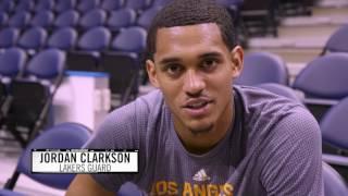 Download Backstage Lakers Jordan Clarkson Video