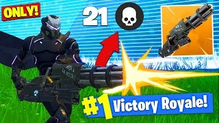 Download The MINIGUN *ONLY* CHALLENGE In Fortnite Battle Royale! Video