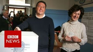 Download Italy referendum: PM Renzi's future in the balance - BBC News Video