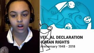 Download Katie Gannon, United States, reading article 7 of the Universal Declaration of Human Rights Video