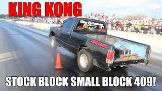 Download SMALL BLOCK STOCK BLOCK 409 CUBIC INCH S10 ON 1 NITROUS KIT!! KING KONG Video