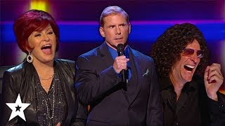 Download Witty Comedian Has Judges in Stitches on America's Got Talent | Got Talent Global Video