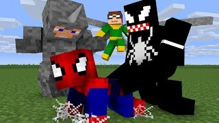 Download Noob Spiderman Life - Minecraft Animation Video