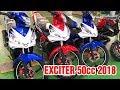 Download Exciter 50cc 2018 Trắng Đỏ ▶ Đánh giá cận cảnh, đọ dáng cùng Xanh GP! Video