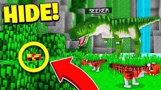 Download WORLDS BEST HIDER?... | JURASSIC WORLD HIDE & SEEK! - Minecraft Mods Video