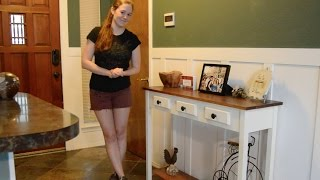 Download DIY Entryway Table with Faux Drawers Video