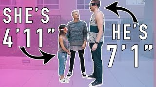 Download BLIND DATE! 7 FOOT TALL GUY MEETS 4 FOOT TALL GIRL! Video