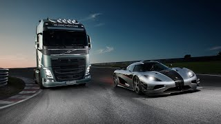 Download Volvo Trucks - Volvo Trucks vs Koenigsegg: a race between a Volvo FH and a Koenigsegg One:1 Video