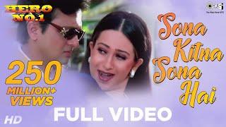 Download Sona Kitna Sona Hai Song Video - Hero No. 1 | Govinda & Karisma Kapoor | Udit N & Poornima Video
