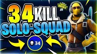 Download 34 KILL SOLO SQUAD! World Record Attempt #2! (Fortnite Battle Royale) Video