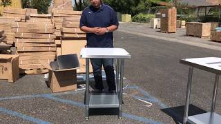 Download Stainless Steel Restaurant Work Prep Table Commercial Equipment Stand Video