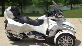 Download HD VIDEO 2014 CAN AM SPYDER RT LIMITED PEARL WHITE USED FOR SALE SEE WWW SUNSETMOTORS COM Video
