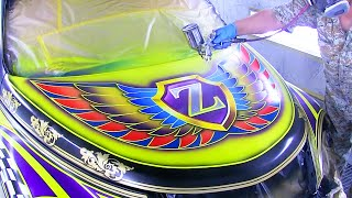 Download How to Custom Paint Graphics and Flake painting / Car Painting Ideas / カスタムペイント Video
