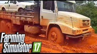 Download Caminhão colide com caminhonete Toyota Hilux na lama | Farming Simulator 17 Multiplayer Video