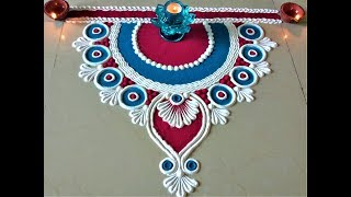 Download Very Simple and Easy Rangoli Designs for Deepawali |Creative Rangoli by Shital Mahajan. Video