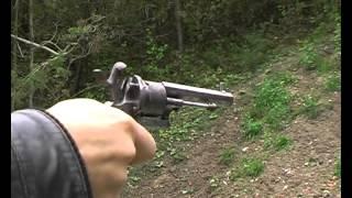 Download tir avec un revolver à broche 7mm, un remington 1858 et un S&W 357 mag Video
