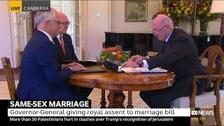 Download Governor General signs marriage equality into Australian Law Video