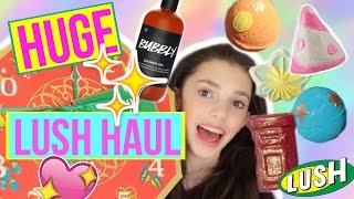 Download HUGE LUSH HAUL | Unboxing Lush Gift Sets | Bath Bombs, Bubble Bars, Shower Gel, Soaps + Demos Video