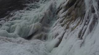 Download Ice climbing waterfall collapse Video