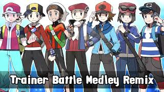 Download Pokemon All Trainer Battle Themes Remixed GEN 1-7 (MEDLEY) Video