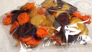Download Dried sweet potato snack (Goguma-mallaengi: 고구마말랭이) Video
