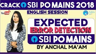 Download SBI PO | EXPECTED ERROR DETECTION IN SBI PO MAINS 2018 | ENGLISH | Anchal mam Video