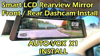 Download AUTO-VOX X1 Fullscreen LCD Rearview Mirror Dashcam INSTALL Video
