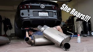 Download Making my exhaust 10x LOUDER! Ford Racing Sport axle back install on GT500!!! Video