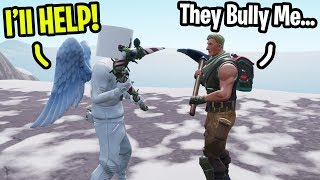Download I met a fan that gets Bullied by his ″Friends″ on Fortnite... (I helped him) Video