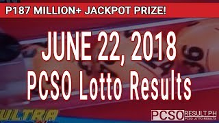 Download PCSO Lotto Results Today June 22, 2018 (6/58, 6/45, 4D, Swertres, STL & EZ2) Video