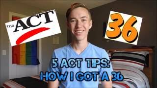 Download ACT Tips: How I Got a 36 Video