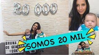 Download SOMOS 20 MIL INSCRITOS I Bruna e os gemêos Video