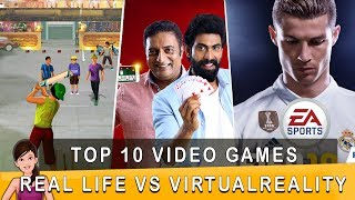 Download Top 10 VIDEO GAMES Real Life vs Virtual Reality   Ft. Varun   Countdown   Madras Central Video