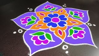 Download Easy Rangoli Designs with Simple Kolam Rangoli Art | Latest Rangavalli by Sunitha Video