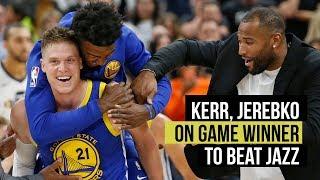 Download Kerr and Jerebko on Warriors' game-winning basket to beat Utah Jazz Video