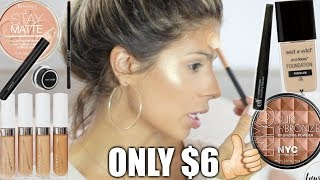 Download FULL FACE NOTHING OVER $6 & WAVY HAIR TUTORIAL Video